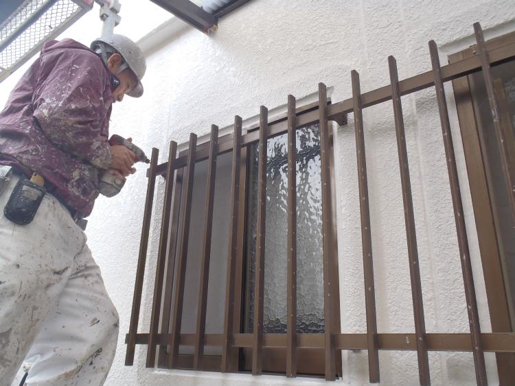 外壁塗装 格子復旧