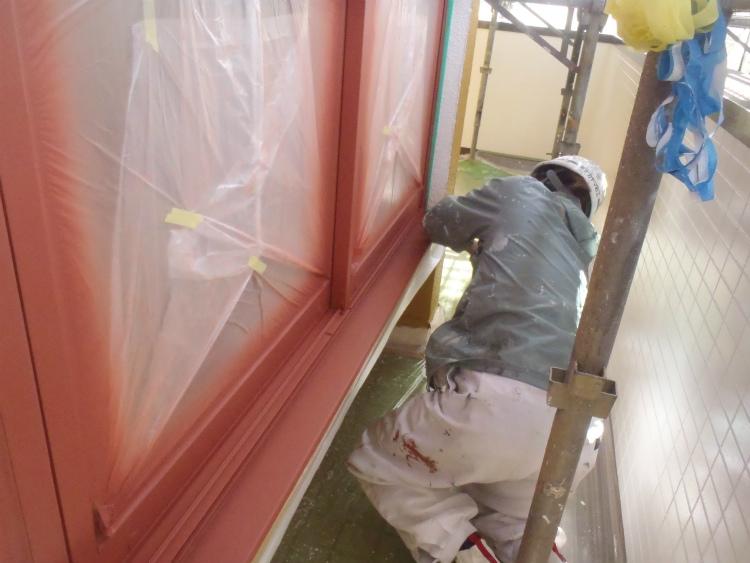 サッシ塗装