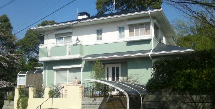 外壁塗装の施工例 糟屋郡宇美町 M様邸