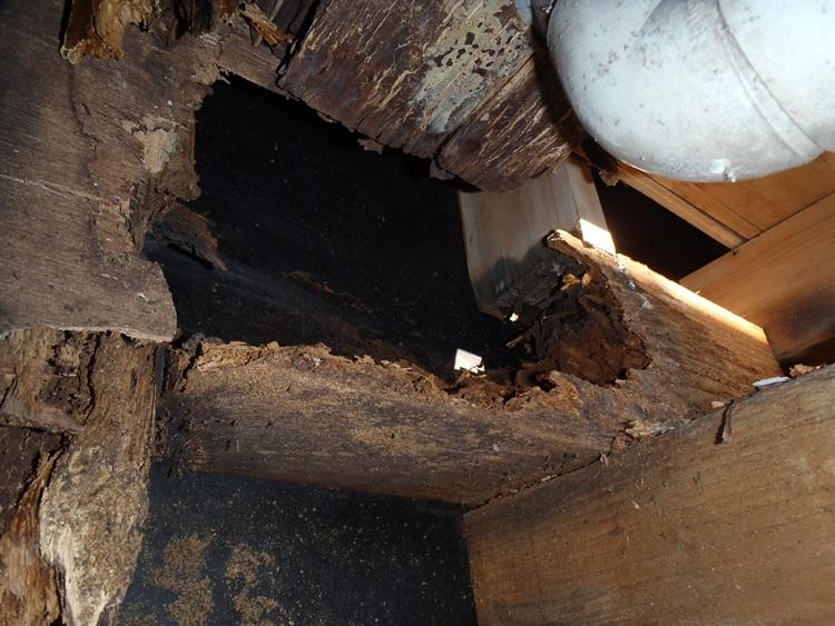 漏水による構造材の腐食
