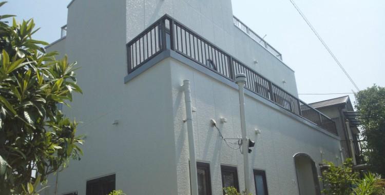 外壁塗装の施工例 大牟田市 S様邸