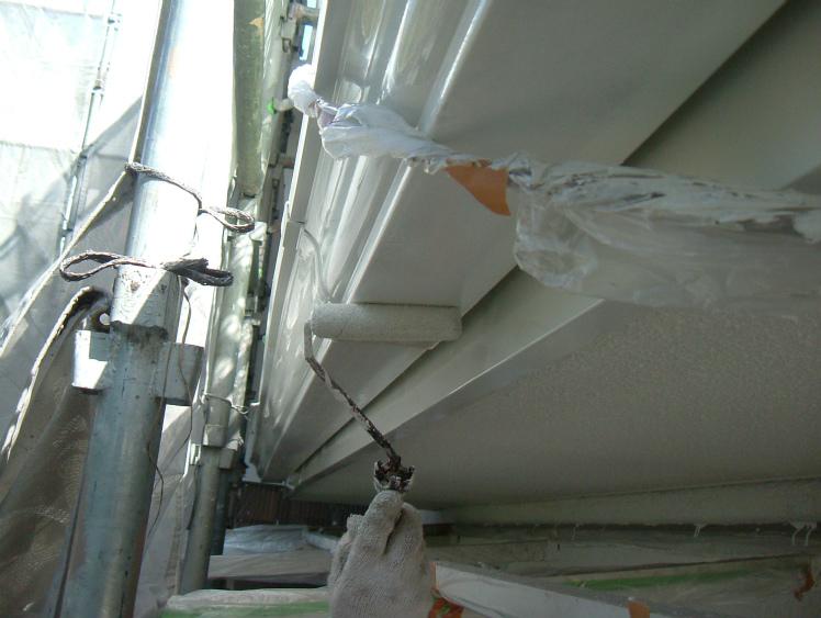 雨樋塗装 上塗