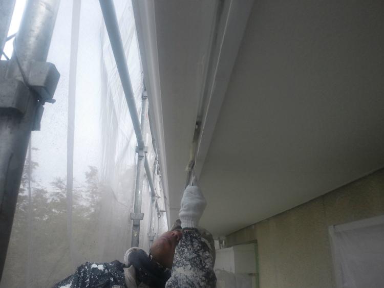 破風板塗装 上塗