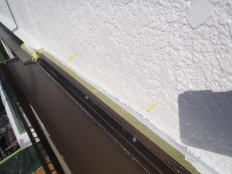 外壁塗装 見切り手直し