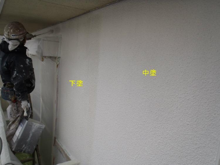 外壁塗装 中塗