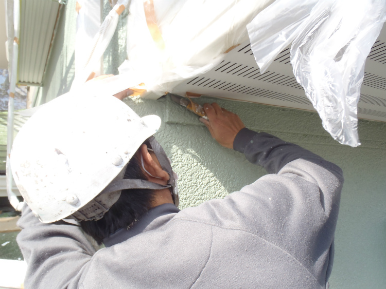 外壁塗装 養生撤去