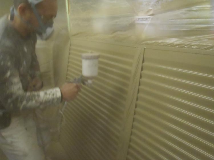 雨戸塗装 上塗