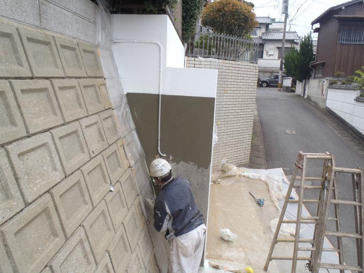 車庫 下地処理