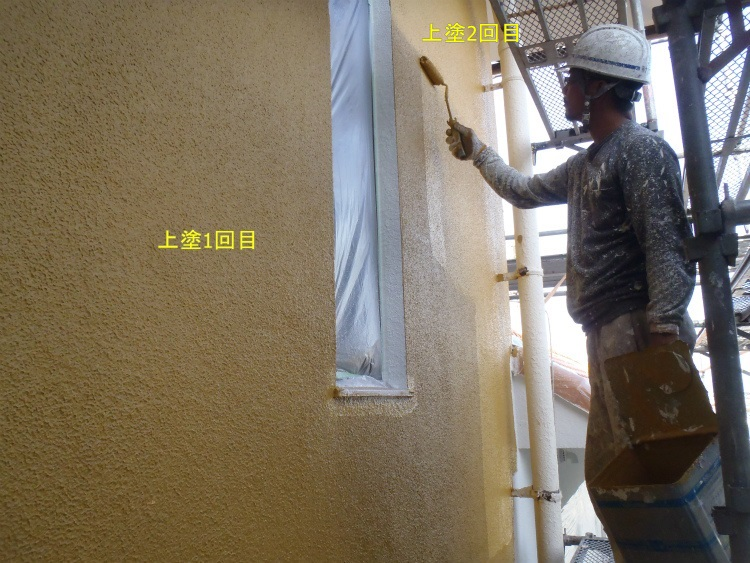 外壁塗装 上塗