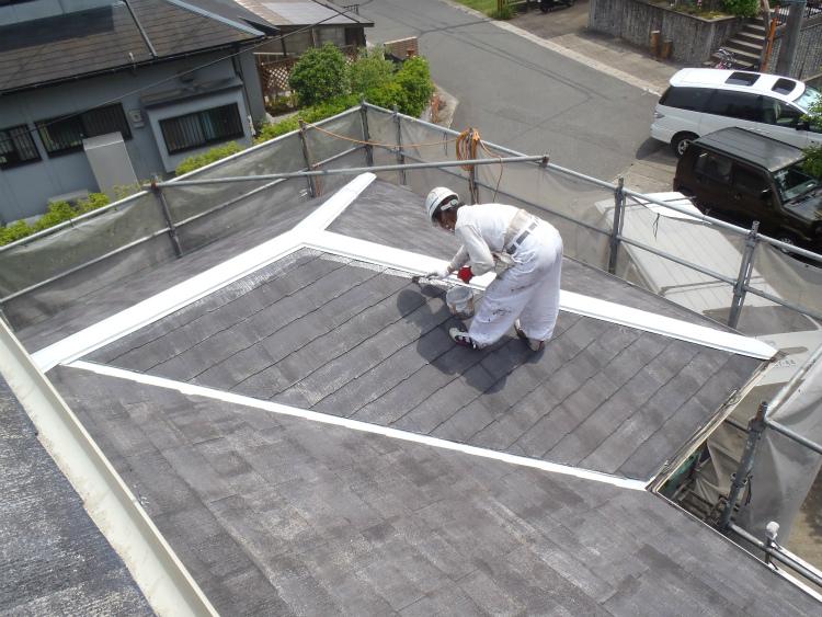屋根 下塗