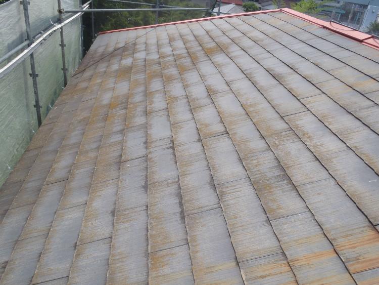 屋根 洗浄前