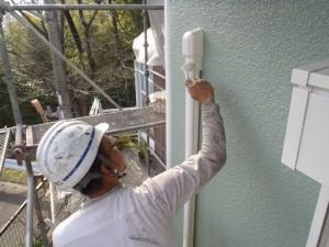 エアコン配管カバー 塗装