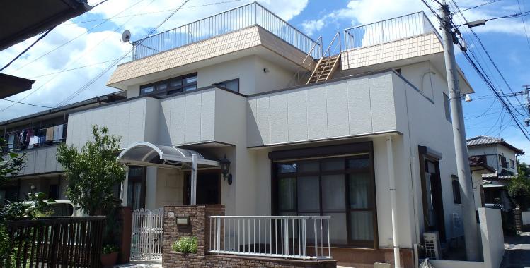 外壁塗装の施工例 福岡市博多区 H様邸