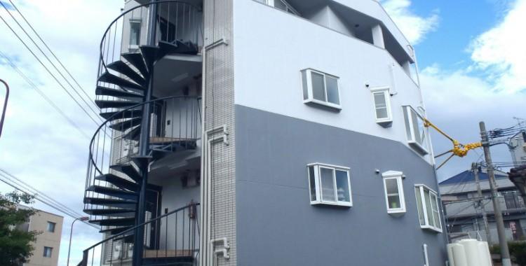 外壁塗装の施工例 福岡市城南区 Lコート