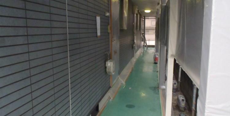 外壁塗装 屋根塗装 糸島市賃貸アパート 平成26年1月17日