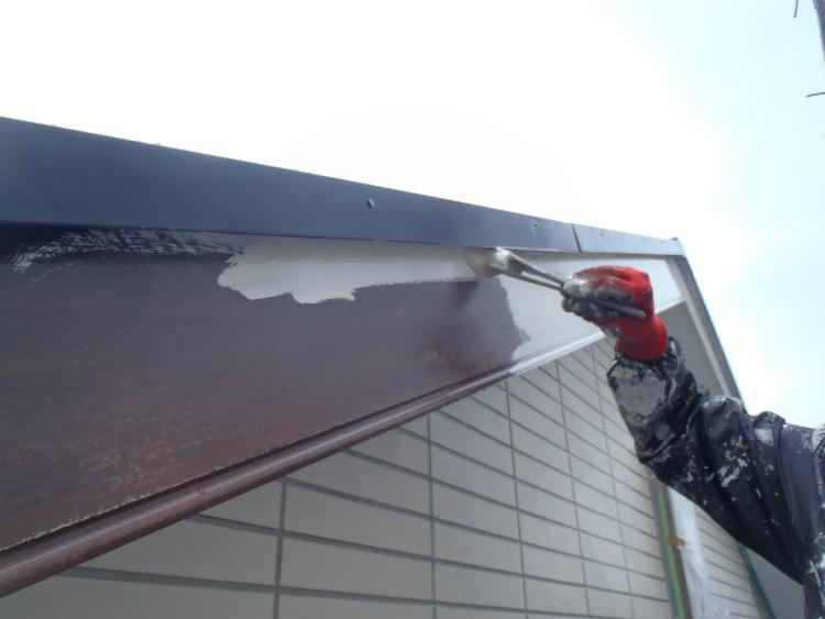 破風板 上塗
