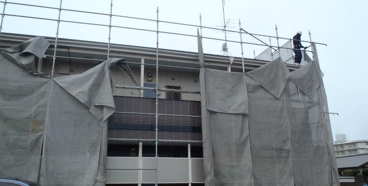 外壁塗装 屋根塗装 糸島市賃貸アパート 平成26年2月17日