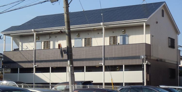 外壁塗装の施工例 糸島市 賃貸アパート