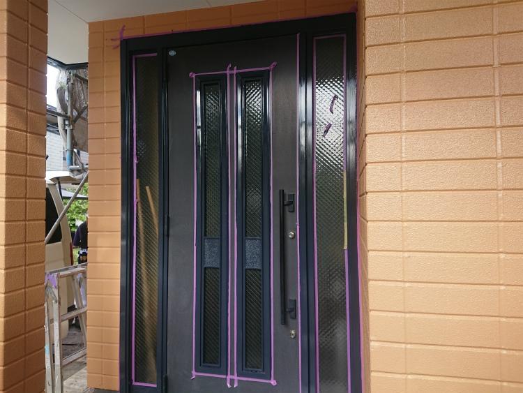 玄関枠 塗装